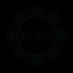 Tvasti Logo b &w-01